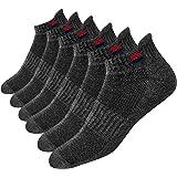 NAVYSPORT Cuscino In Cotone Calzini della Caviglia Atletico Uomini, Confezione da 6