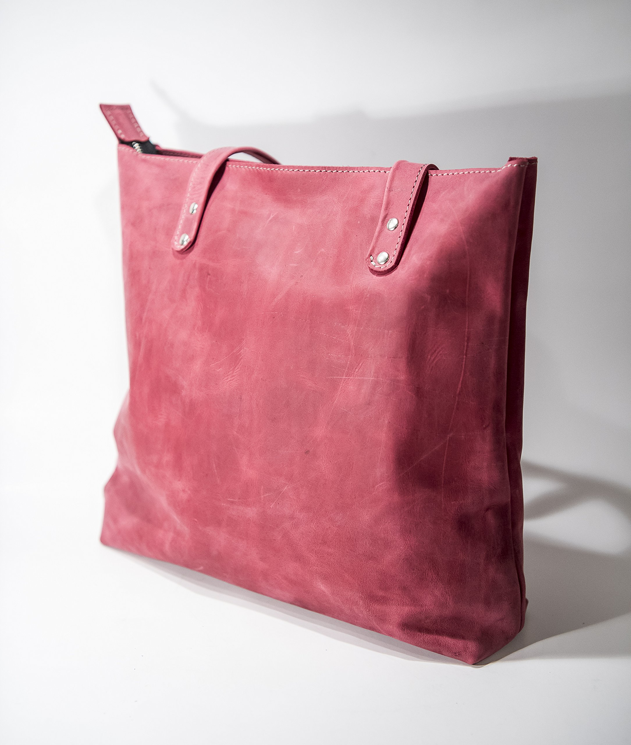 ADOREinstyle Top Quality Leather Shoulder Bag - Leather Handbag - Full-grain Leather - Customizable Bag - Pink Leather Bag. Inc. dust bag - handmade-bags
