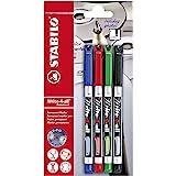 Stabilo Write-4-all / B-17555-10 Marqueur permanent Rouge/bleu/vert/noir 4 pièces