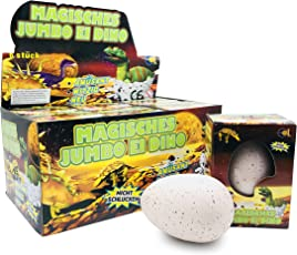 JustRean Toys XXL Dino 🦕 Schlüpf Ei 11cm - Magic Growing Egg Jumbo Dinosaurier Schlüpfei