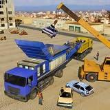Viejo Trituradora de coches Operador de grúa Ciudad Camión de la basura Simulador Juegos 2019