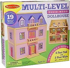 Melissa & Doug 4570 Multi-Level Wooden Dollhouse,Multicolor