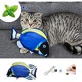 DazSpirit Kattenvis speelgoed bewegende vis speelgoed voor katten, Interactieve Floppy Fish Cat Toys 28Cm elektrische Flippit