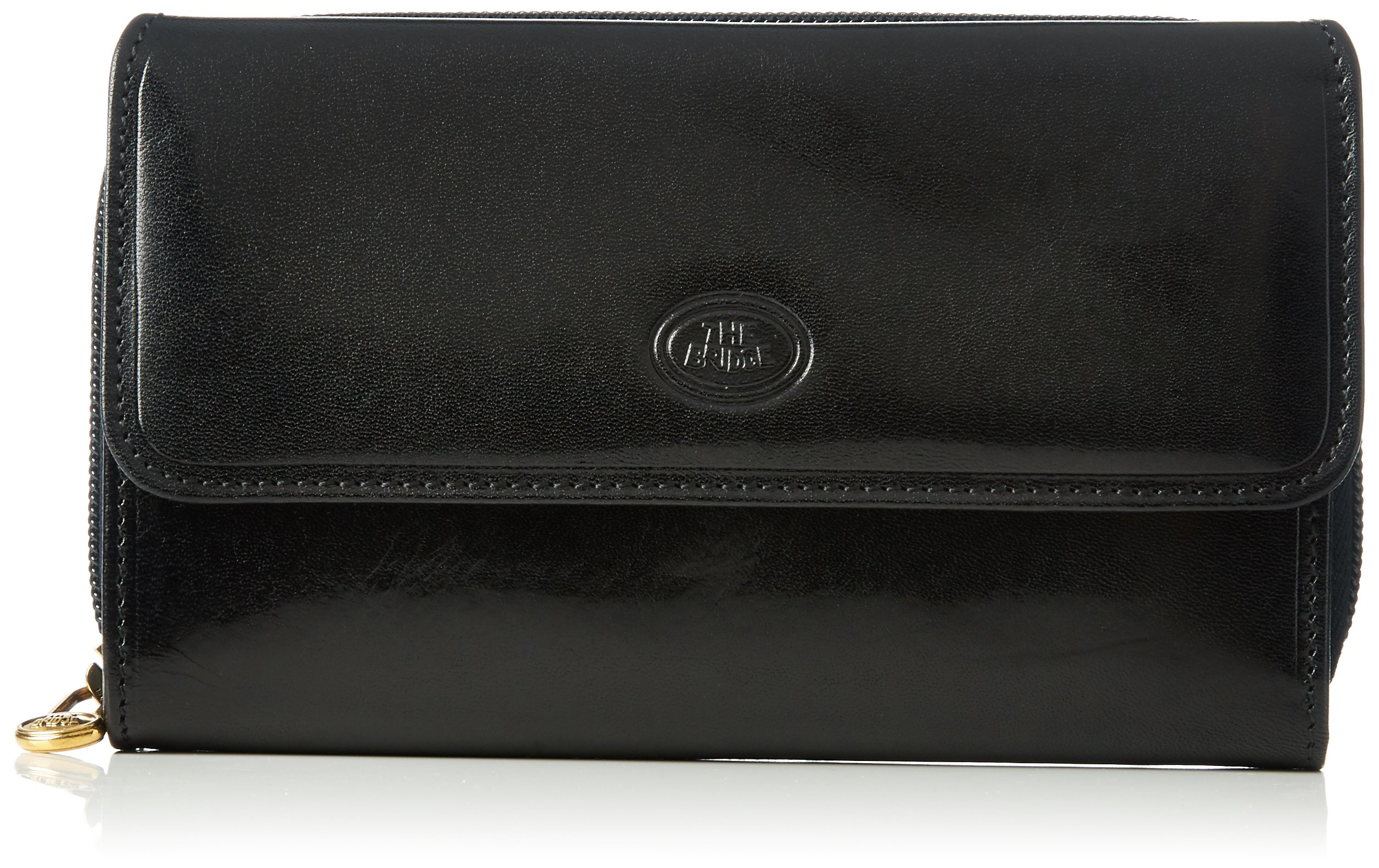 The Bridge Ladies' Wallet Damen Leder Geldbörse, Schwarz