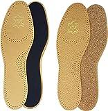2 Paar echte Leder Einlegesohle-n Basic Einlage-n braun Damen Herren Gr.36-48