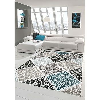 Moderner Teppich Designer Teppich Orientteppich Mit Glitzergarn