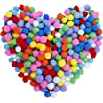 Pompons Artisanat élastique mini pompons décorations boules pour fournitures de loisirs 2.5cm assortis de couleur pour les en