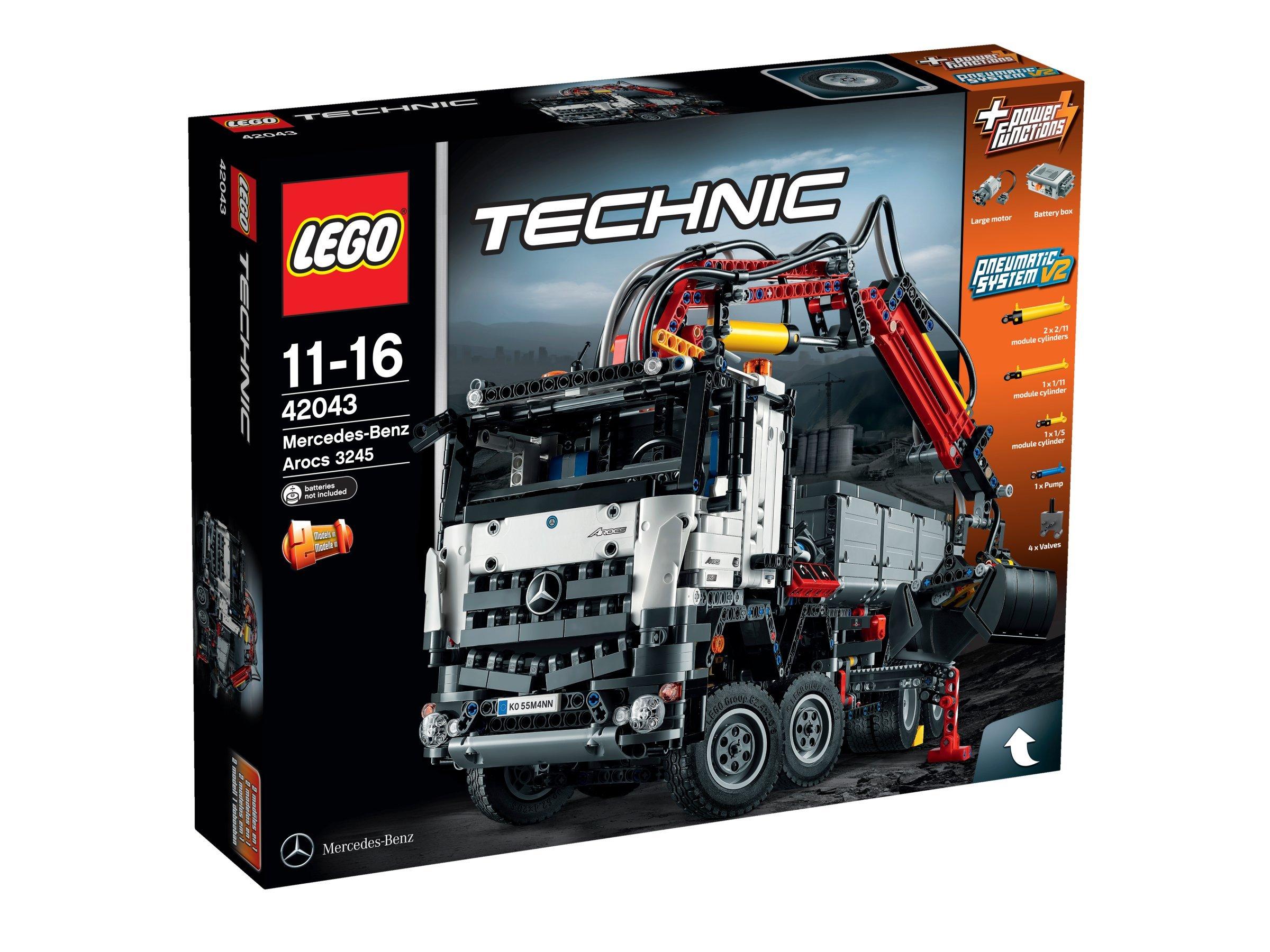 LEGO Technic 42043 – Mercedes-Benz Arocs 3245, Auto-Spielzeug, mit Pneumatik