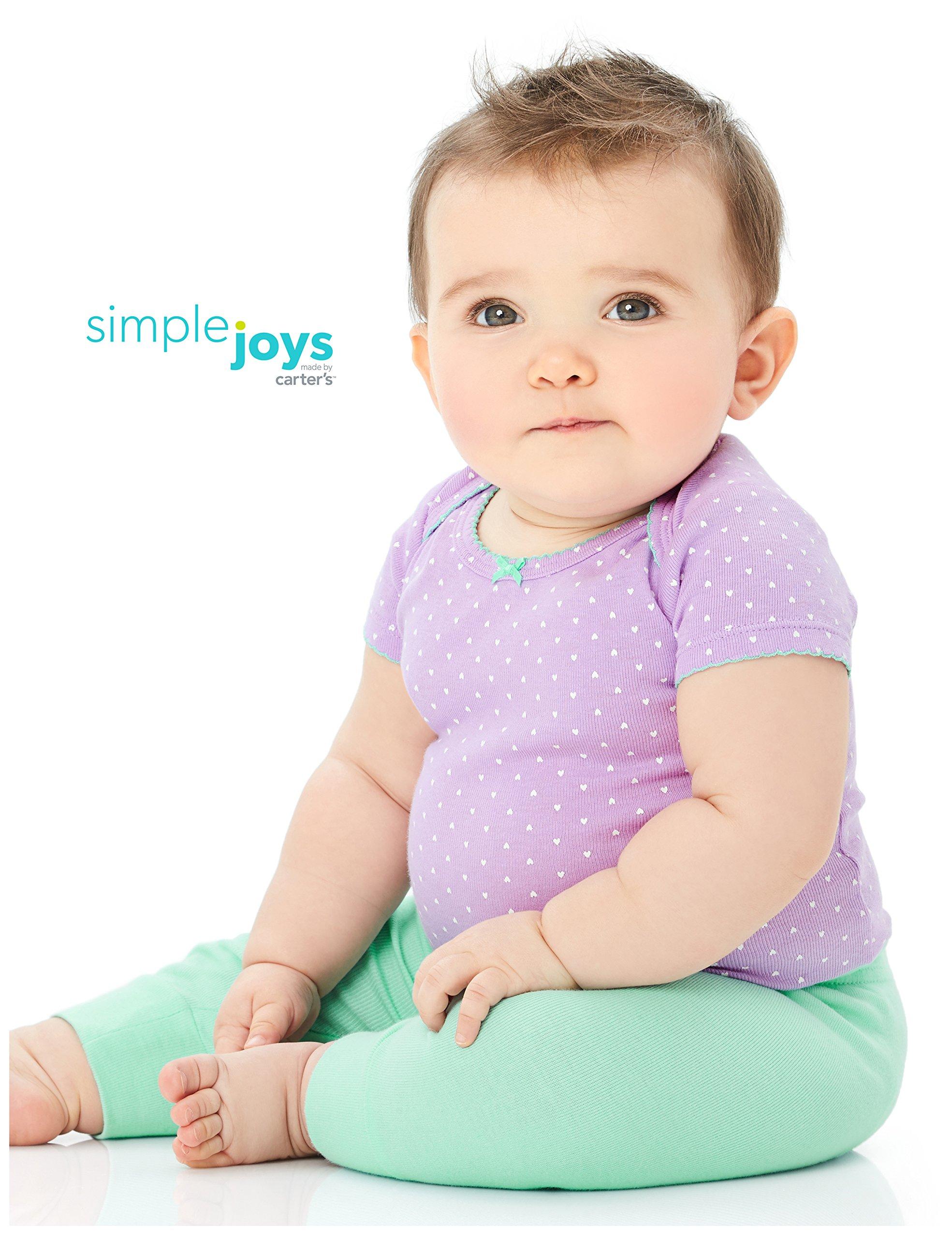 Simple Joys by Carter's pantalón para niñas pequeñas, paquete de 4 4