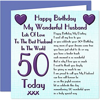 Husband 50th Happy Birthday Card