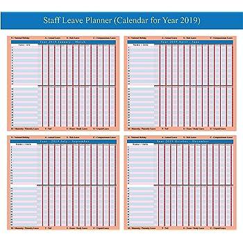 plannerworld 2019 staff holiday planner chart amazon co uk office