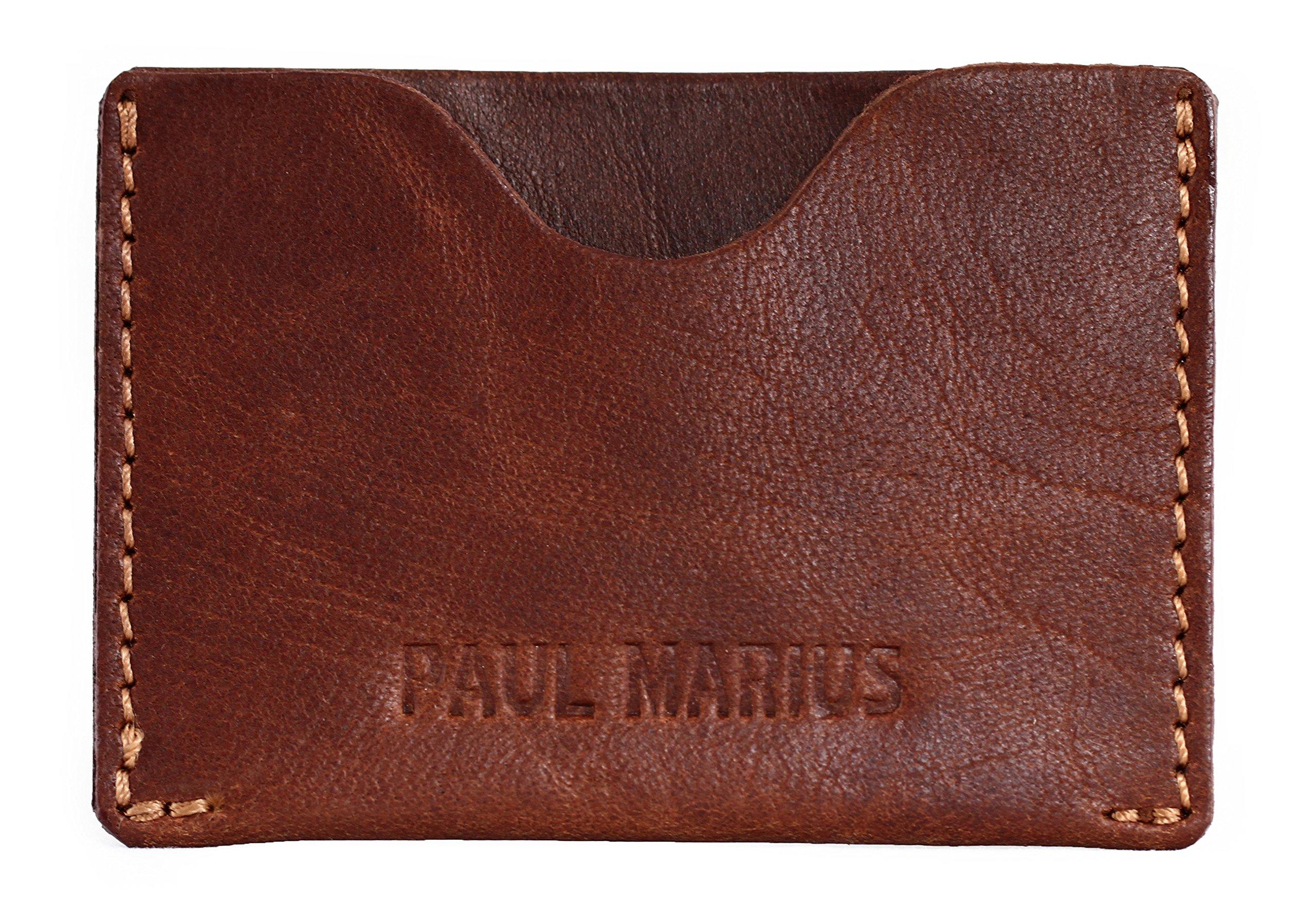 91DIQ0tF3NL - Gabin Tarjetero de Cuero marrón Tarjeta de crédito Tarjeta de fidelidad PAUL MARIUS