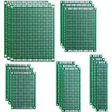 15 Piezas Placas de Fibra de Vidrio de Doble Cara de PCB Taladradas Con Taladro Tarjeta Placa Prototipo Kit para Soldadura DI