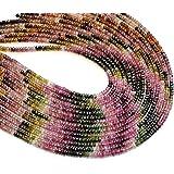 Neerupam Collection Perlas Sueltas Turmalina Natural rondelle facetas Semi Piedra Preciosa para la fabricación de Joyas Colla