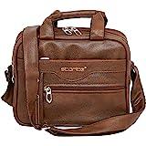 Storite Stylish PU Leather Sling Cross Body Travel Office Business Messenger One Side Shoulder Bag for Men Women (25 cm x 11