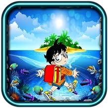Boy Conan swiming