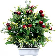 Artificial Fruit cherry Home Decor Flower Pot For Festive Decoration and Gift