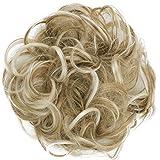 PRETTYSHOP Postiche Choucho Avoir Les Cheveux Relevés Avoir Les Cheveux Relevés Volumineux Bouclé Chignon Blond Fraise Mix G3