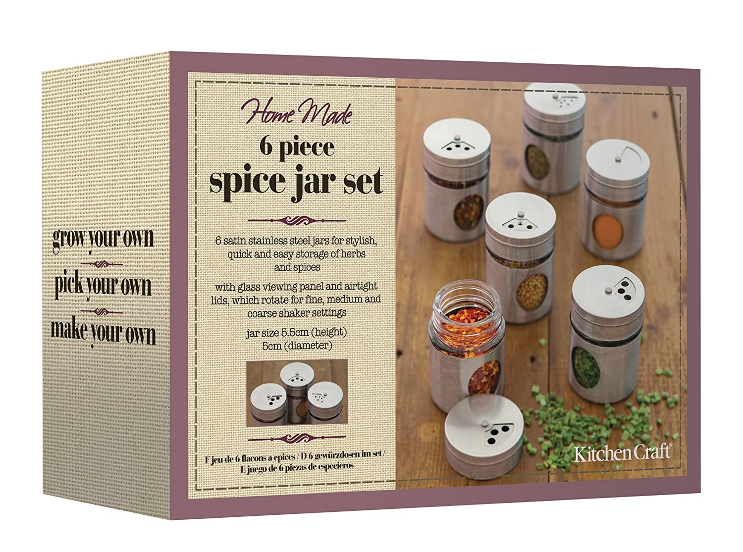home made set of  stainless steel spice jars amazoncouk  - home made set of  stainless steel spice jars amazoncouk kitchen  home