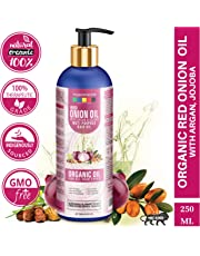 Organix Mantra Red Onion Oil with Argan, Jojoba, Hibiscus, Curry Leaves, Tea Tree, Organic Multi Purpose Hair Oil (250ML)