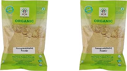 Arya Farm Organic Fenugreek (Methi) Powder, 100g - (Pack of 2)