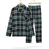 CityComfort Mens Pyjamas Set, Tartan Brushed Cotton Pyjamas, Xmas Gifts for Him