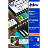 AVERY - Pochette de 250 cartes de visite imprimables, En carte blanche mate 185g/m², Format 85 x 54 mm, Impression laser / je