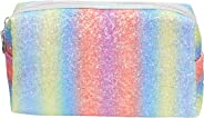 Amazon Brand - Solimo Cosmetic, Makeup & Toiletries Pouch (Rainbow; Multicolour)