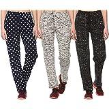 SHAUN Women's Cotton Track Pants (Pack of 3)