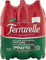 Ferrarelle Acqua Minerale Naturale - 6 x 1.5 L