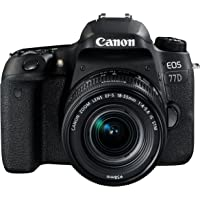 Canon EOS 77D DSLR Digitalkamera - mit Objektiv EF-S 18-55mm F4-5.6 IS STM Objektiv (24,2 Megapixel, 7,7 cm (3 Zoll…