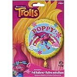 """Amscan International–3395001""""trols Poppy"""" estándar Foil Balloon , color/modelo surtido"""