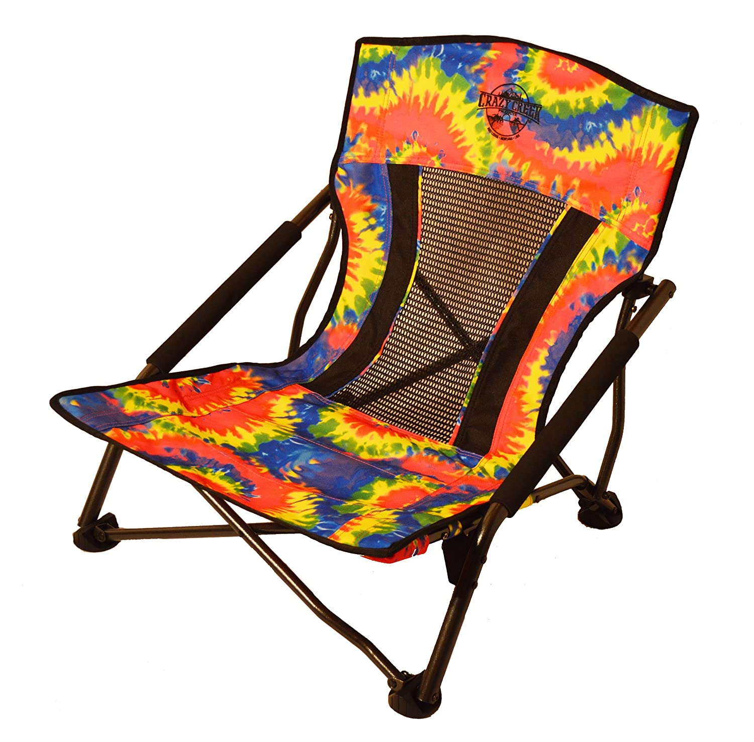 Crazy Creek Crazy Legs Quad Beach Festival Chair Olive Green