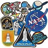 Patch Sticker, MUSCCCM 10Pcs Parches Aeroespacial Termoadhesivos DIY Coser o Planchar en Los Parches Apliques para Ropa Camis