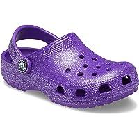 Crocs Classic Glitter Clog, Neon Purple, 10 UK Child