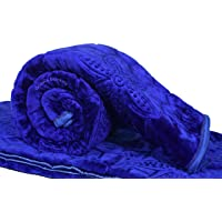 GOYAL'S Mink 200 TC Blanket (Blue_Single)