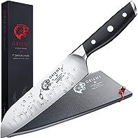 """ORIENT Couteau santoku de 7"""" - Couteau de Chef de 18cm avec Protection de Lame, Acier Inoxydable Allemand - Couteaux de…"""