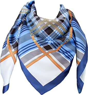tessago foulard dis 62854 var 21 azzurro digitale made in italy