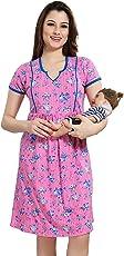 AV2 Women's Cotton Maternity and Feeding Short Nighty