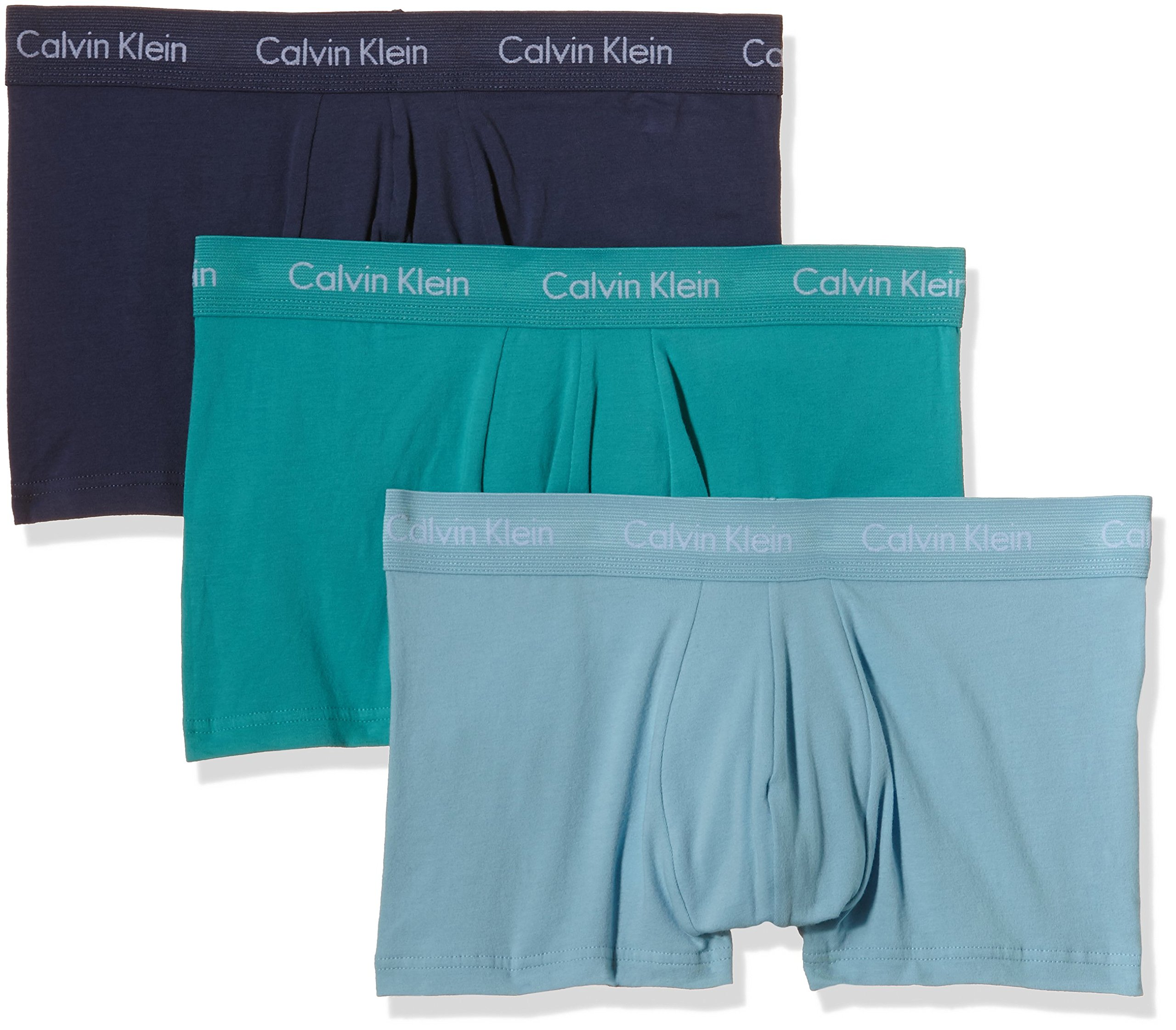 Calvin Klein Cotton Stretch Low Rise Trunk, Bóxers para Hombre, Paquete de 3