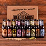 WACKEN BRAUEREI Craft Beer Box 18 x 0,33 l verschiedene Sorten | GÖTTERGABE | Viking Craftbeer Set Gift for Men | Wikinger Kraft Bier Geschenk für Männer | Party Festival Heavy Metal