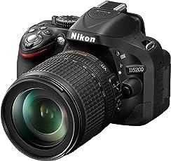 Nikon D5200 SLR-Digitalkamera (24,1 Megapixel, 7,6 cm (3 Zoll) TFT-Display, Full HD, HDMI) Kit inkl. AF-S DX 18-105 mm VR Objektiv schwarz