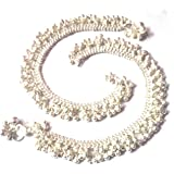 Utsav Collection Silver Plated Anklets for Women(Silver)