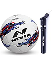 Nivia Storm Football (White) with Double Action Ball Pump