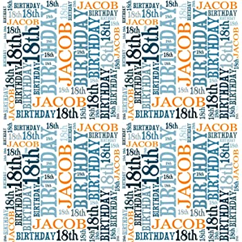 90th Birthday Personalised Gift Wrapping Paper Choose Colour ADD NAME