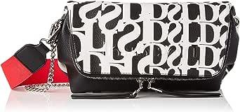 Desigual Womens PU ACROSS BODY BAG, Black, U