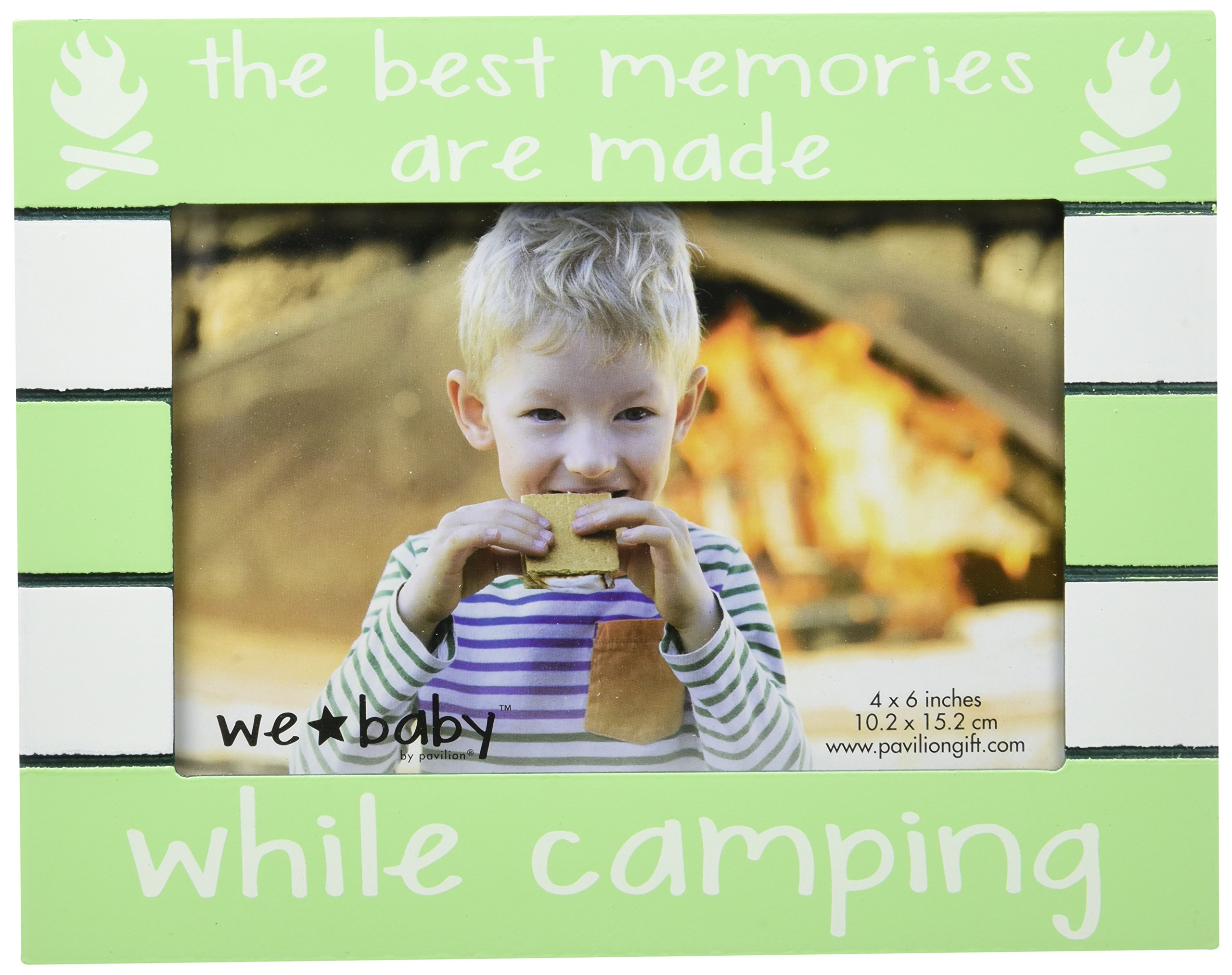Pavilion Gift Company We Baby The Best Memories are made while camping cornice, 15,2 x 10,2 cm, Gre