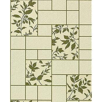k chen tapete badezimmer tapete edem 146 25 fliesen kacheln optik florales muster beige gr n. Black Bedroom Furniture Sets. Home Design Ideas
