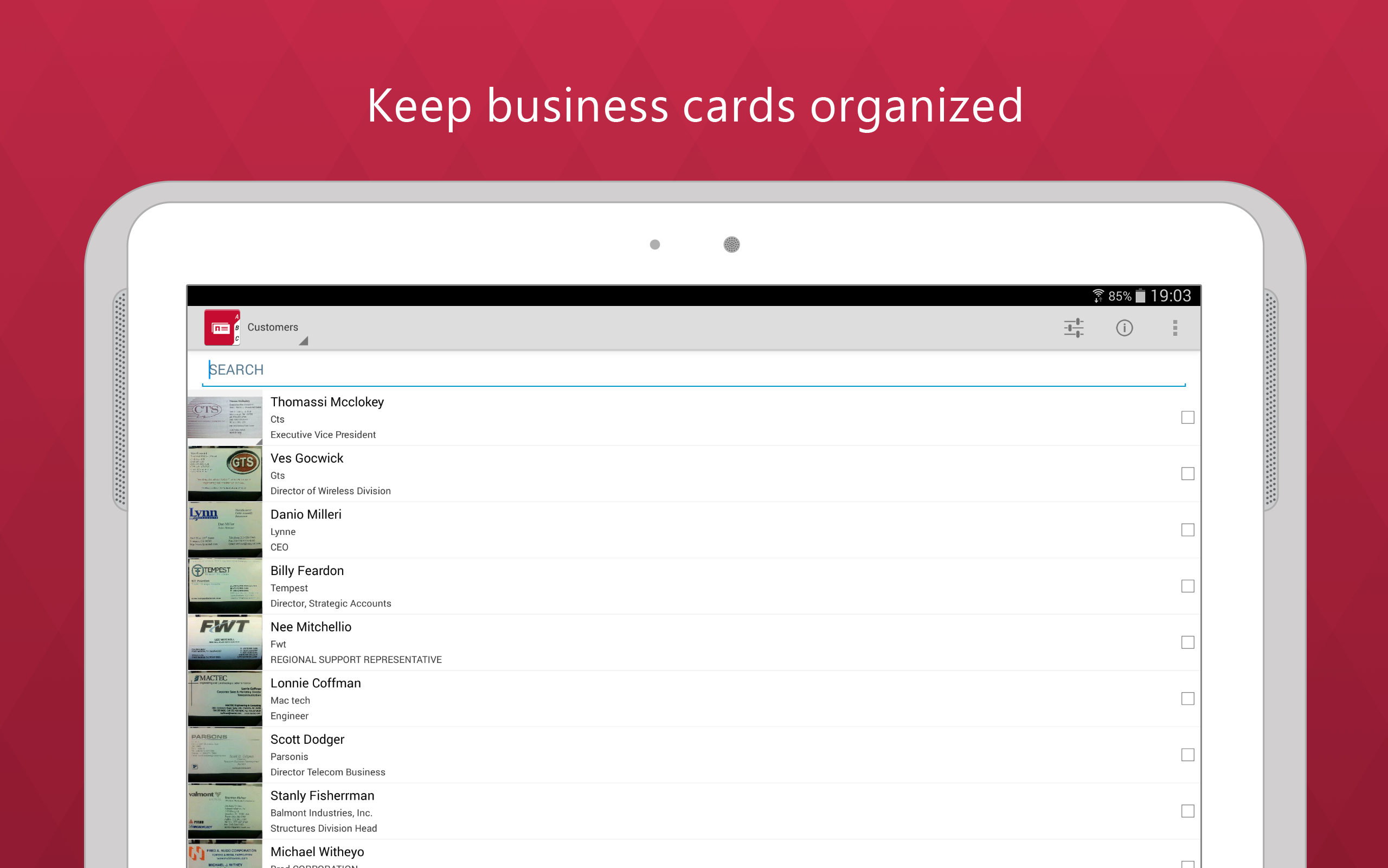 Business card reader pro amazoncouk appstore for android for Business card reader app android