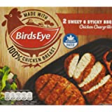 Birds Eye 2 Sweet and Sticky BBQ Chicken Chargrills, 174g (Frozen)